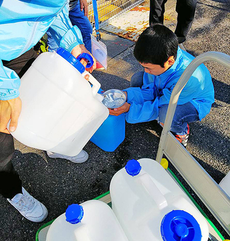 周防大島で給水のお手伝いをしました