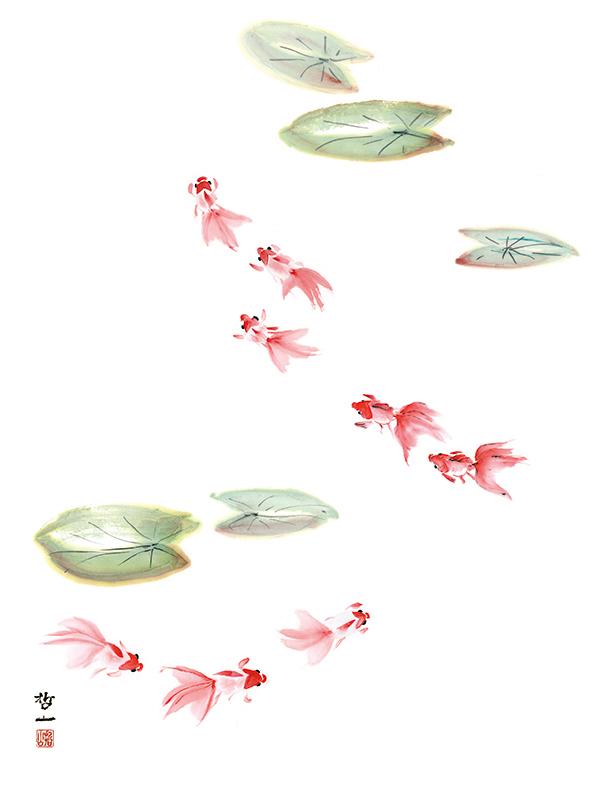 金子みすゞの詩と水彩画