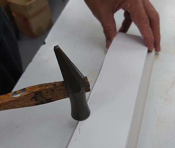 伝票製本 針金綴じの仕上げ方法