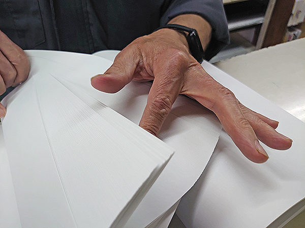 製本の基本ー紙を数える